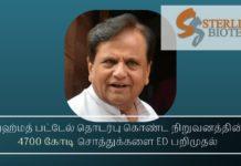 சந்தேசரா குழுமம் & ஸ்டேர்லிங் பையோ டெக்கின் 4,700 கோடி ரூபாய் சொத்துக்கள் மீது விசாரணை