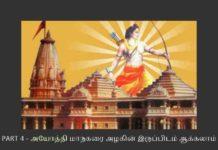இந்துக்களின் தலைநகரமாகத் திகழ வேண்டிய அயோத்தி இன்று மாசு படிந்த ஓவியம் போல் இருக்கிறது